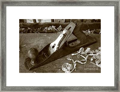 Carpentry Tools Framed Print by Gaspar Avila