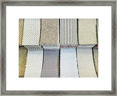 Carpet Shades Framed Print