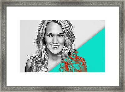 Carrie Underwood Collection Framed Print by Marvin Blaine