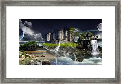 Castle In The Sky Art Framed Print by Marvin Blaine