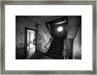 Castle Stairs - Abandoned Building Framed Print by Dirk Ercken