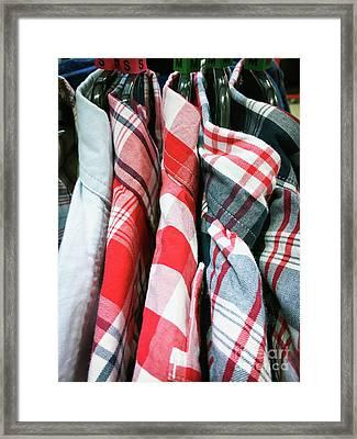 Casual Men's Shirts Framed Print by Tom Gowanlock