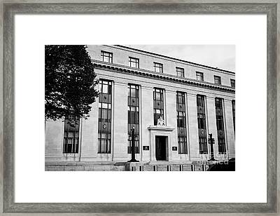 Cathays Park 1 Cp1 Old Crown Building Welsh Goverment Office Cardiff Wales United Kingdom Framed Print