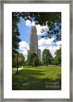 Cathedral Of Learning University Of Pittsburgh Framed Print