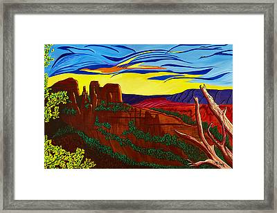 Cathedral Rock Framed Print by Clark Sheppard