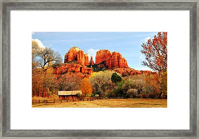 Cathedral Rock Framed Print by Howard Bagley