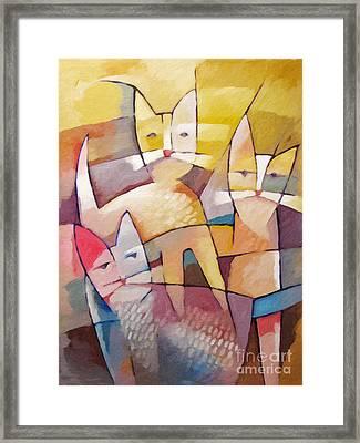 Catlife Framed Print by Lutz Baar