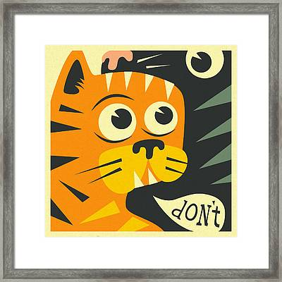 2 Cats  Framed Print by Jazzberry Blue