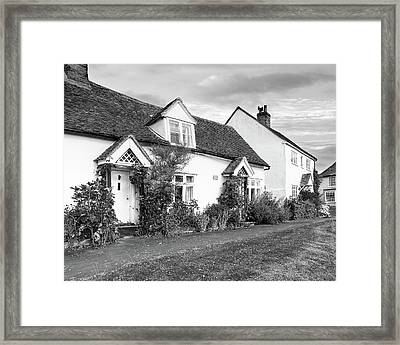 Causeway Cottages Finchingfield Framed Print by Gill Billington