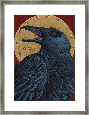 Caw Framed Print by Amy Reisland-Speer