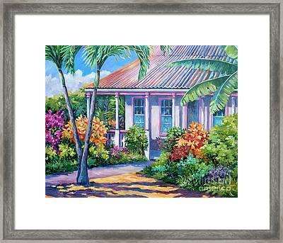 Cayman Yard Framed Print