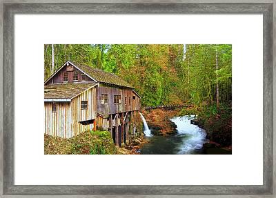 Cedar Creek Grist Mill Framed Print by Steve Warnstaff