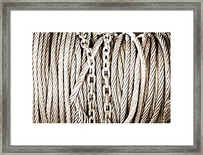 Chains And Cables Framed Print by Tom Gowanlock