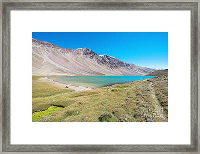 Framed Print featuring the photograph Chandratal Lake by Yew Kwang
