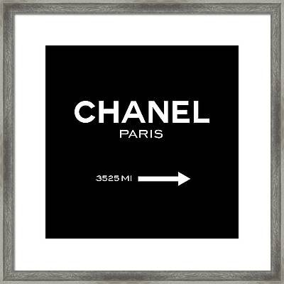 Chanel Paris Framed Print