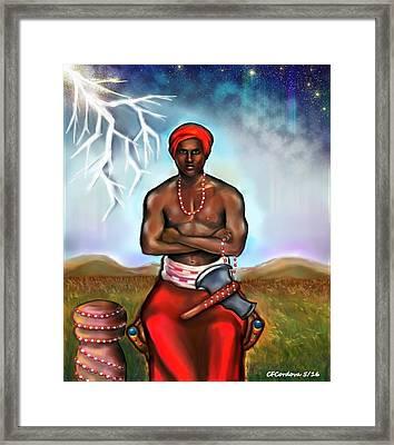 Shango Framed Print by Carmen Cordova