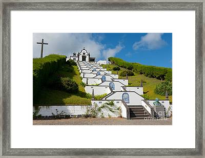 Chapel In Azores Islands Framed Print by Gaspar Avila