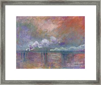 Charing Cross Bridge Framed Print by Claude Monet