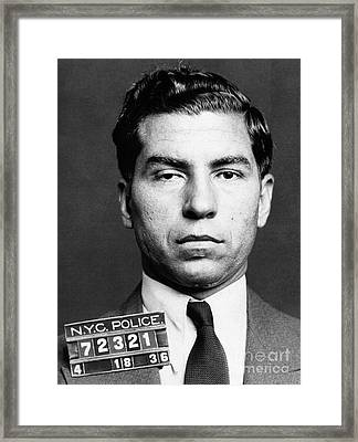 Charles Lucky Luciano Framed Print by Granger