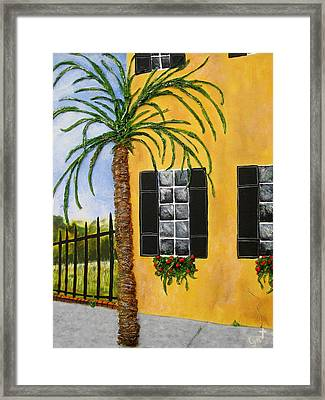 Framed Print featuring the painting Charleston 3d by Lyn Calahorrano