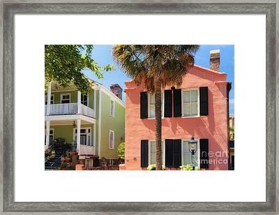 Charleston Charm V Framed Print by George Oze