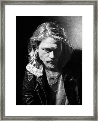 Charlie Hunnam Framed Print by Stan Antonio