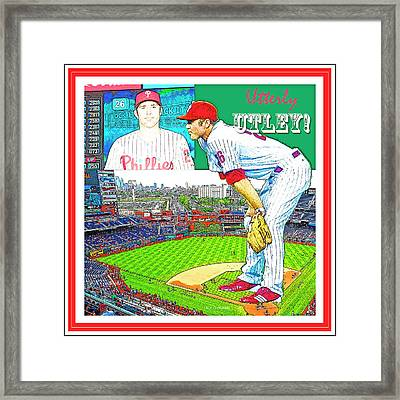 Chase Utley Poster Utterly Utley Framed Print