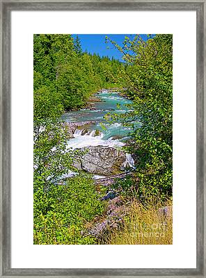 Framed Print featuring the photograph Cheakamus River by Sharon Talson