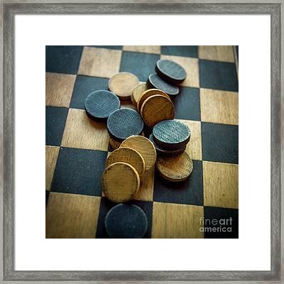 Checkers On A Checkerboard Framed Print by Bernard Jaubert
