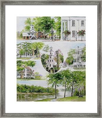 Cheraw Collage Framed Print