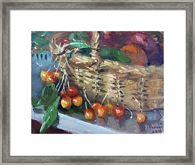 Cherries Framed Print by Ylli Haruni