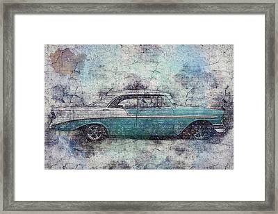 Chevy Bel Air Framed Print by Joel Witmeyer