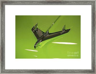 Chevy Hood Ornament Framed Print