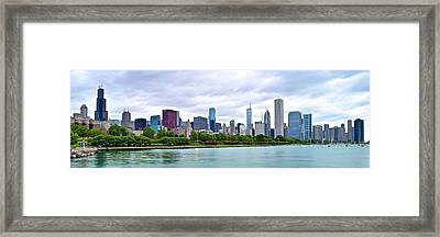 Chicago Stretches Out Framed Print by Frozen in Time Fine Art Photography