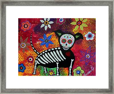 Chihuahua Day Of The Dead Framed Print by Pristine Cartera Turkus