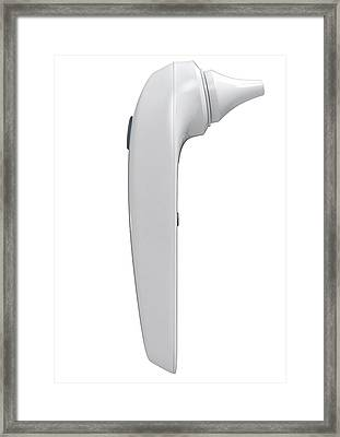 Child Ear Thermometer Framed Print by Allan Swart