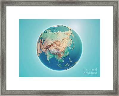China 3d Render Planet Earth Framed Print