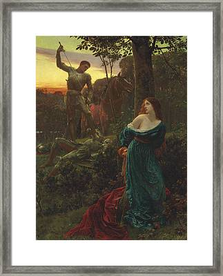 Chivalry Framed Print by Frank Dicksee