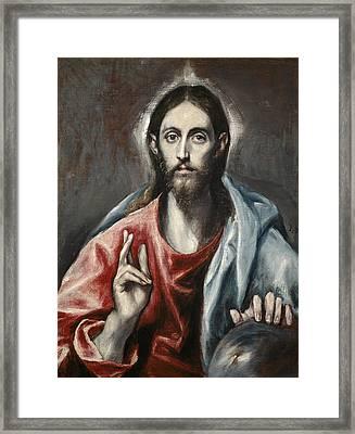 Christ Blessing Framed Print