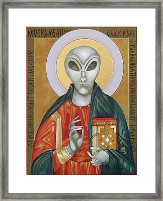 Christ Eternal Framed Print by Mary Jane Miller