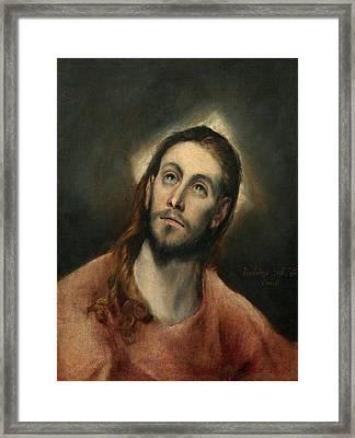 Christ In Prayer Framed Print