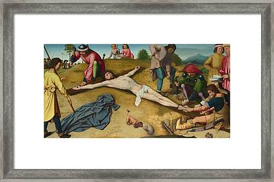 Christ Nailed To The Cross Framed Print