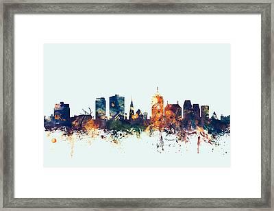 Christchurch New Zealand Skyline Framed Print