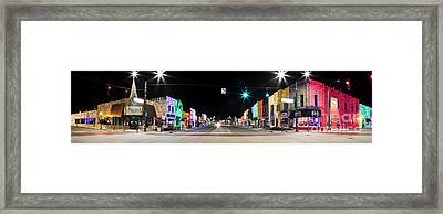 Christmas Lights In Rochester Framed Print by Twenty Two North Photography