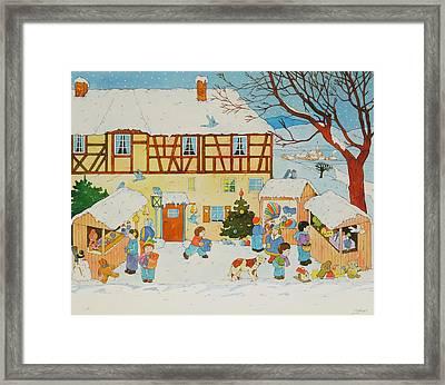 Christmas Market Framed Print
