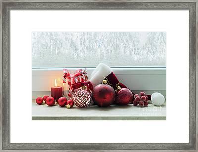 Christmas Windowsill Framed Print
