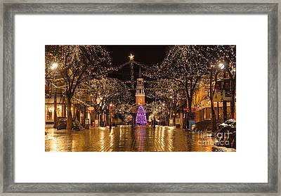 Christmas Time On Church Street. Framed Print