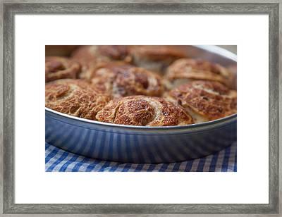 Cinnamon Buns Framed Print by Erin Cadigan