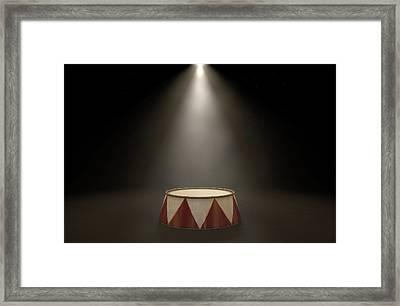 Circus Podium Spotlit Framed Print by Allan Swart