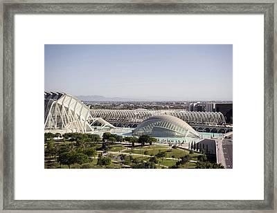 Ciudad De Las Artes Y Ciencias Valencia Framed Print